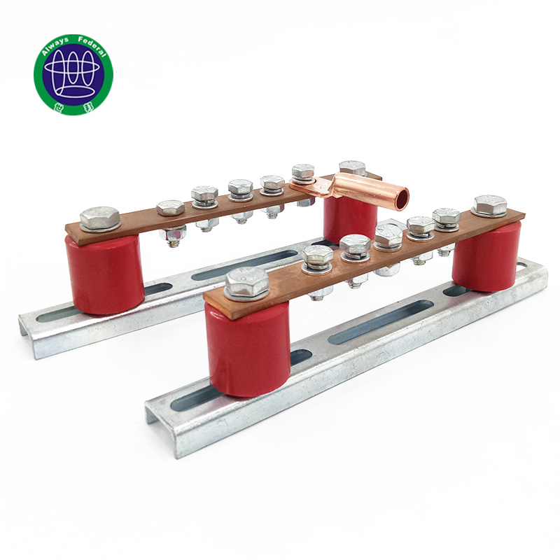 High Current Terminal Block Of Copper Busbar