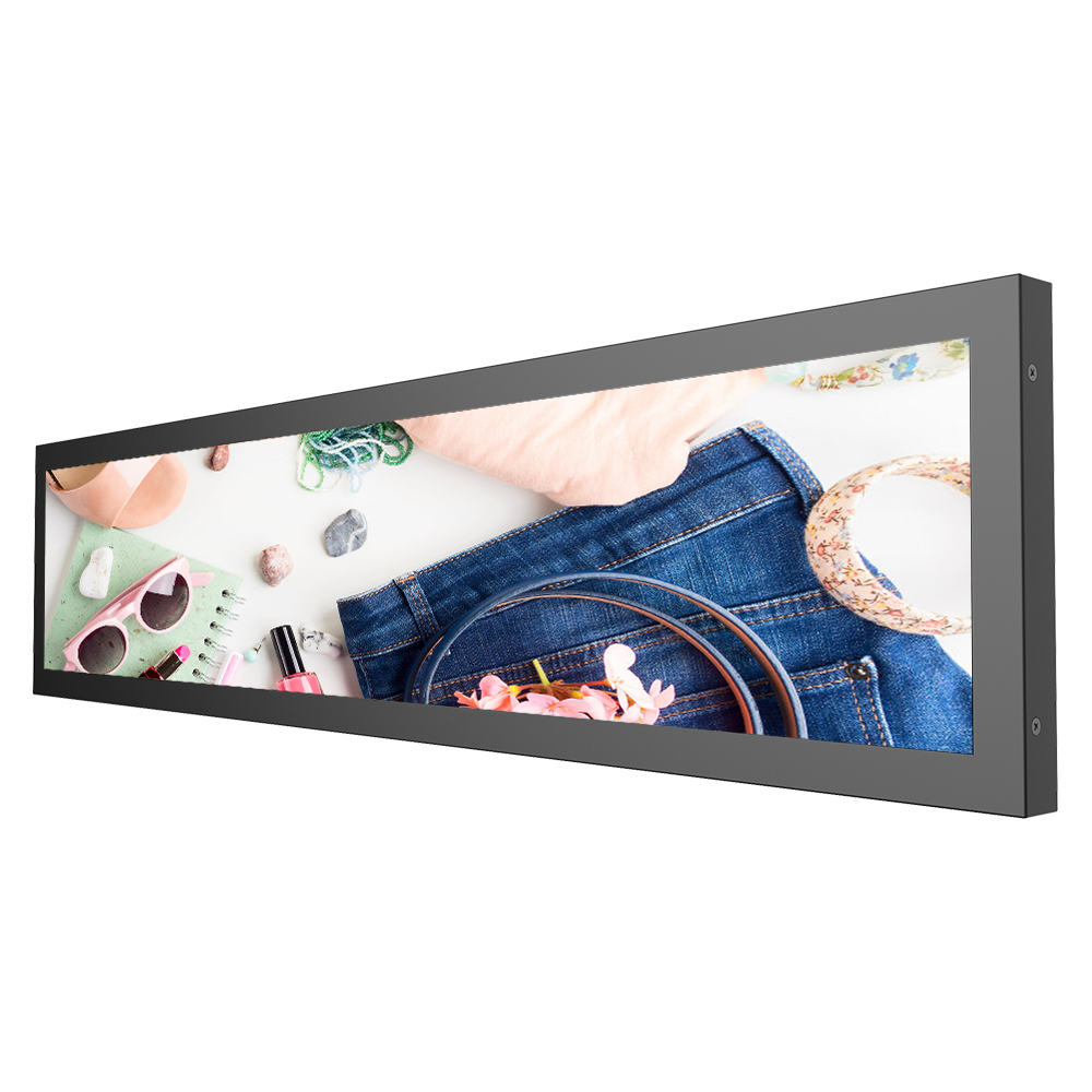 38 inch TFT LCD,600 nits LED backlight,stretched bar lcd,resizing LCD