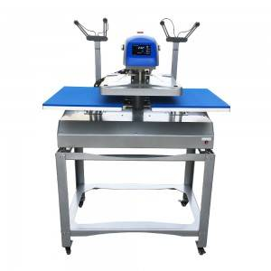 Electric Automatic 16×20 Double Side Station Heat Transfer Press Machine With Laser Alignment