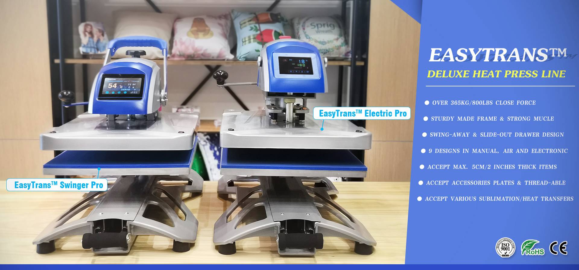 EasyTrans ™ Deluxe Heat Press Hattı