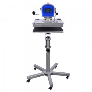 40x50cm Prime Swing-away Pneumatic Heat Press Machine W/Adjustable Caddie Stand
