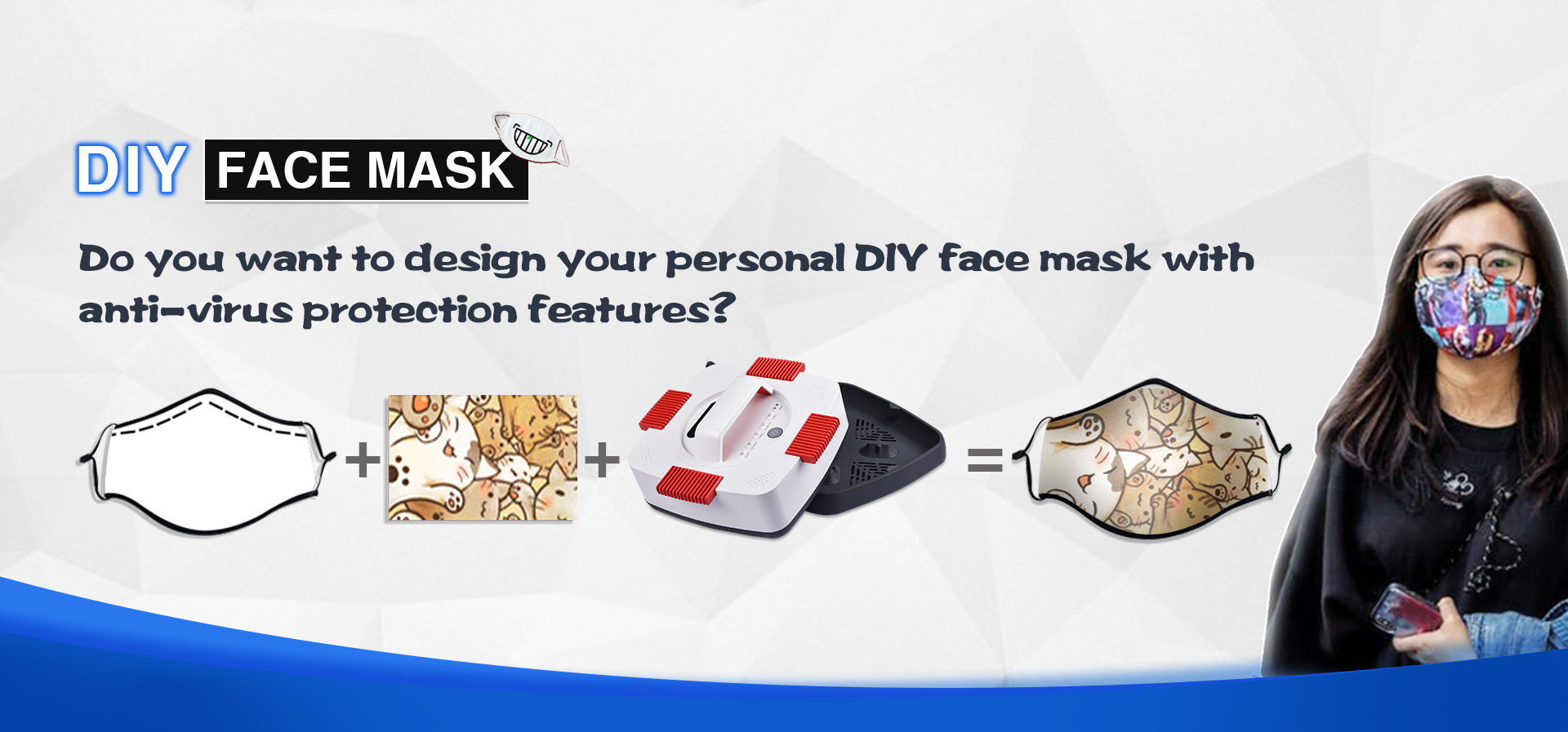 Get Stylish With Textiles Reusable Sublimation Face Masks