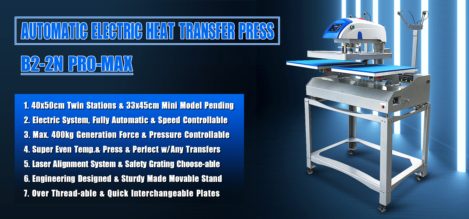 wholesale twin station electric heat press