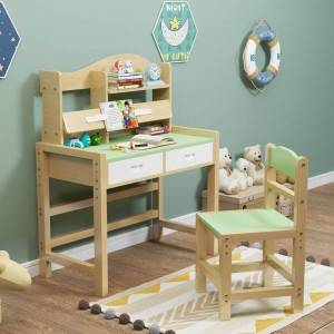 WOODEN desk chair set for kid family