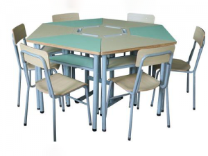 Kids Study Table and Chairs Set
