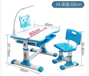 X4 desk chair set for kid family