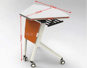 fan shape folding training table T2