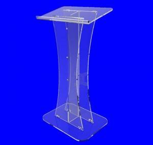 custom crystal floor standing acrylic podium for wedding church lucite lectern