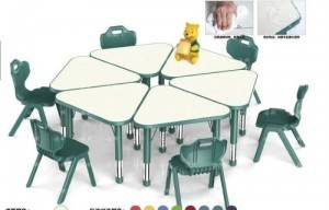 Kindergarten Combined tables and chairs