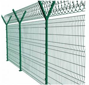 PVC coated 3D wire curved mesh fence / welded garden fence panel