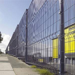 Heavy duty factory price powder coated curved welded wire mesh fence and decorative garden fence panels