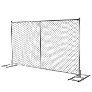 Hot dipped galvanized wrought iron temporary barrier mesh gate fence high quality lower price