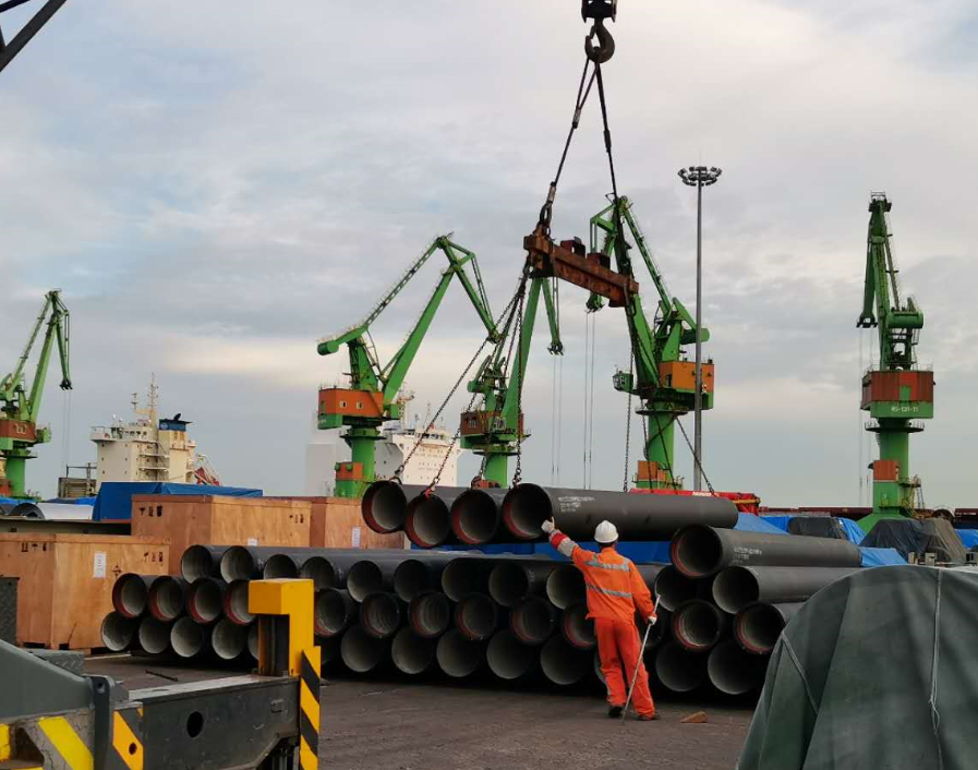Ductile iron pipe delivered successfully