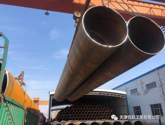 API 5L GR.B SSAW Piles For Bridge Replacement Has Been Delivered