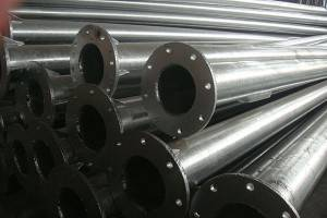 Hollow seksyon Galvanized Steel Pipe bakal poste