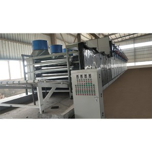 2 layers roller type core veneer drying machine