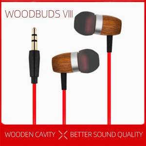 Woodbuds VIII wired 3.5mm wooden earphone