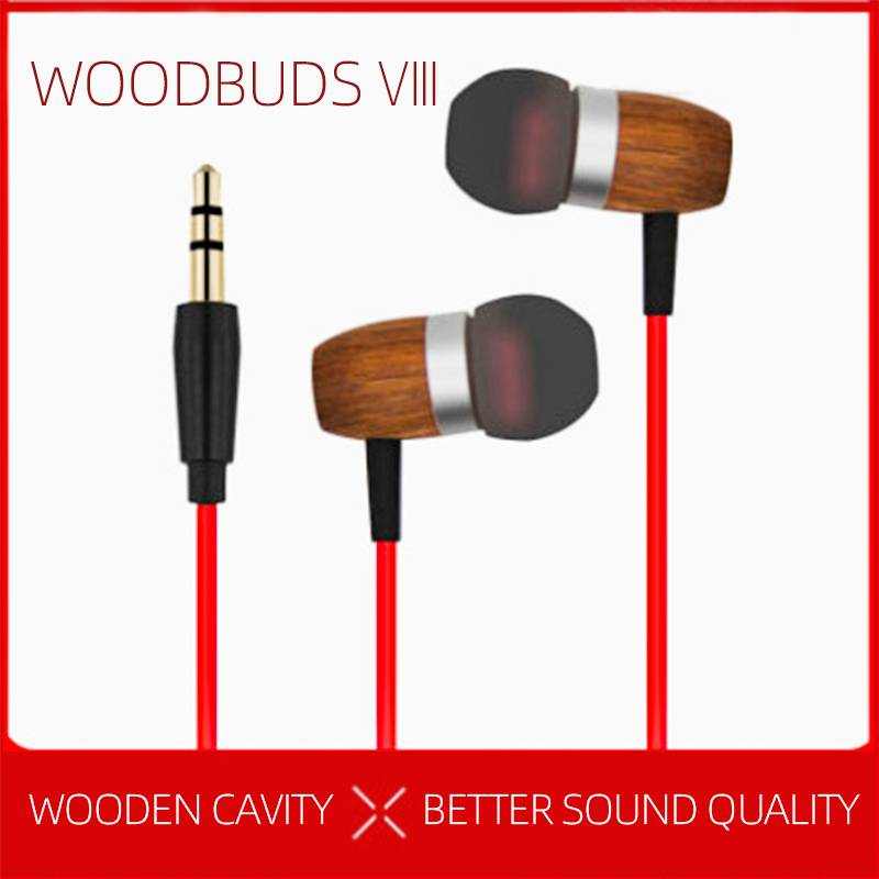 Woodbuds VIII wired 3.5mm wooden earphone Featured Image