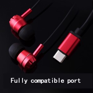 stereo wire earphone mobile phone new type-c headset p2 with mic