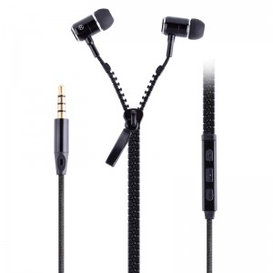 Volume Control Zipper Earphone