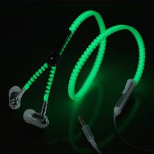 Luminous Zipper Earphone