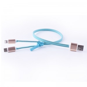 2 IN 1 Zipper Usb Cable