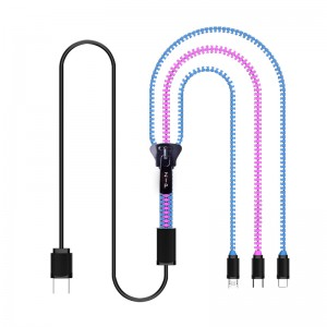 3 MU 1 Zipper USB chingwe-Model