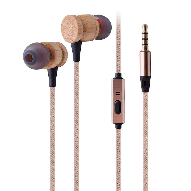 FSC wired wood earphone