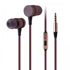 matabwa Earphone
