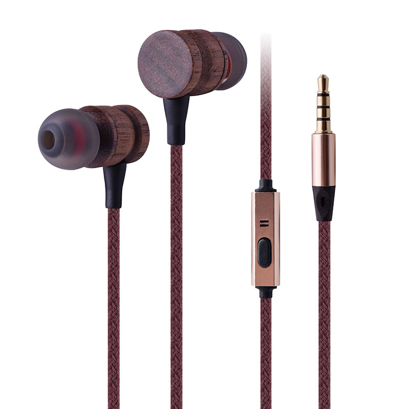 Good Quality In-Ear Earphone – Wooden Earphone – Xinliang