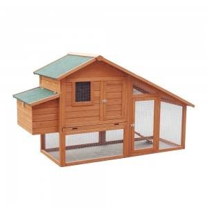 P517 Weather-Proof Wood Chicken Coop With Storage And Tiered Space