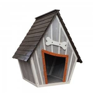 P396 Wood Dog Kennel With Apex Asphalt Roof