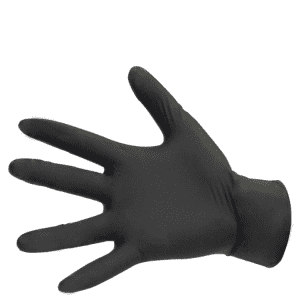 Free sample Hair Salon Barber Glove Oil Resistant black gloves nitrile disposable