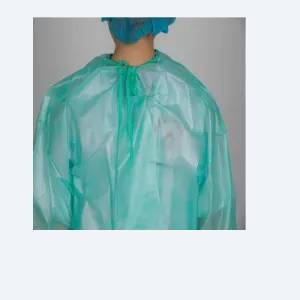 Disposable CPE surgical gown Plastic Protective CPE Gown Medical Operation Gown