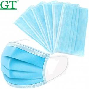 High quality disposable face mask non-surgery face mask with three-ply
