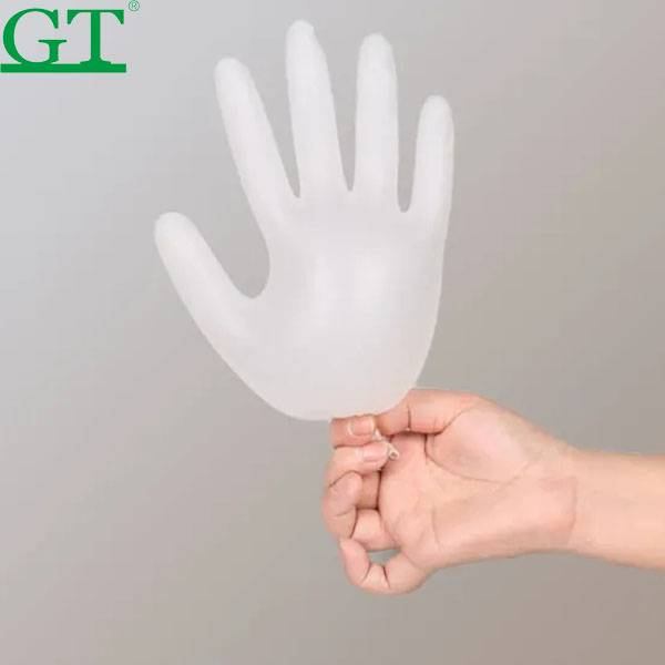 disposable food handing transparent PE gloves plastic gloves