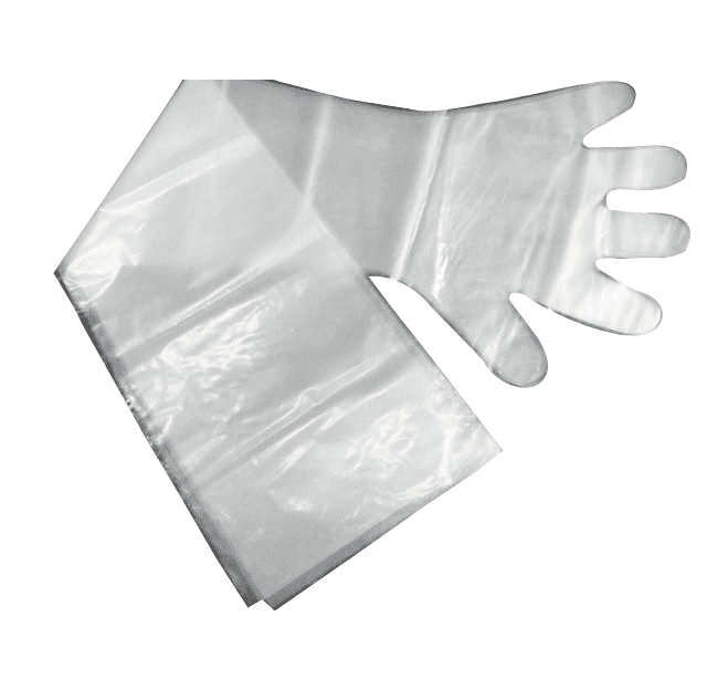 protective plastic pe transparent extra long disposable gloves