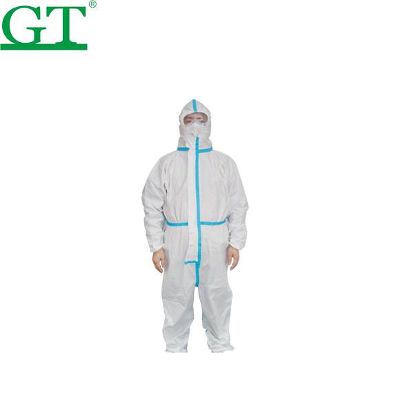 High quality white disposable clothing protective isolation gown suits