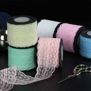 Lace Ribbon Gift Decoratieve Packing Roll Package 45mm Floral Pattern