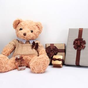 Gift wrapping decoration custom ribbon bows brown color