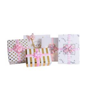Custom  print pink ribbon package bows