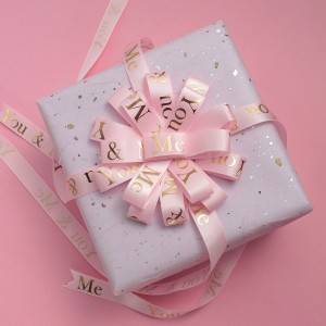 Flower pattern custom gift wrapping bow