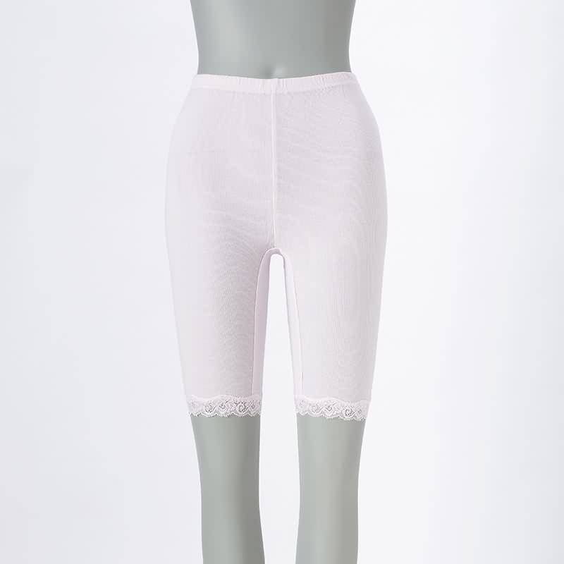 Ladies' Knitting Pink Lace Inner Pants