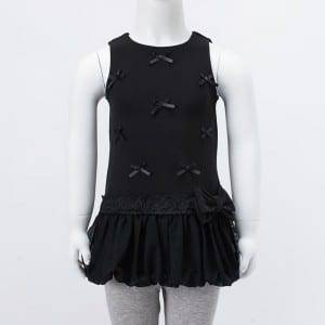 Girl's Knitting Chiffon Dress With Lace