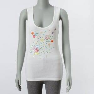 Women'S Embroidery Sleeveless Tank Tops Cotton Vest