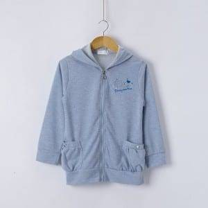 Gilr's Knitting Long Sleeve Embroidery Hoody