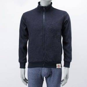 Men'S Knitting  Long Zipper Inner Brush Outer Wear Overcoat With Pocket