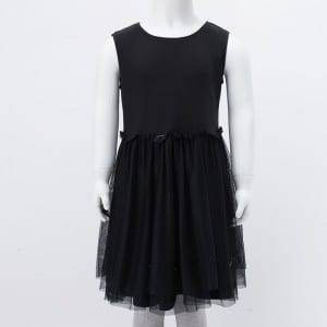 Girl's Knitting Chiffon Dress