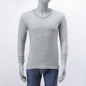 Men'S Knitting Round-Neck Long Sleeve Jacquard Air Layer Long John