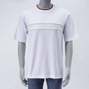 Men'S Cotton Mesh Stitching Tennis Shirt